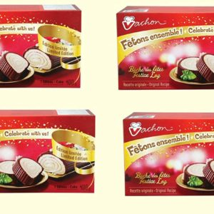 festive log from vachon, quebecois snacks