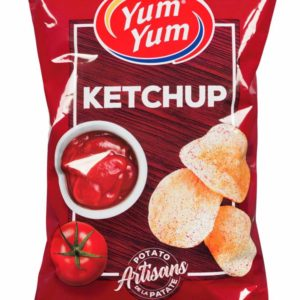 yum yum, ketchup chips, snack from canada