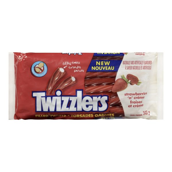 TWIZZLERS Licorice Candy, Strawberries N' Creme, 343g/12oz (Imported from Canada)
