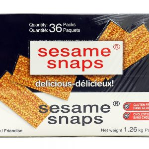 Sesame Snaps - 36 packs x 35 grams (Net weight 1.26 Kg)