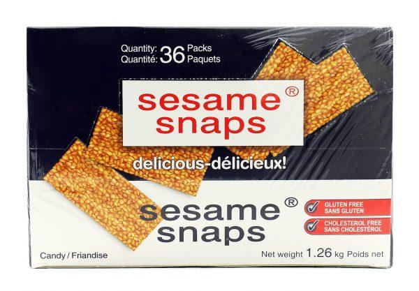 Sesame Snaps - 36 packs x 35 grams (Net weight 1.26 Kg)